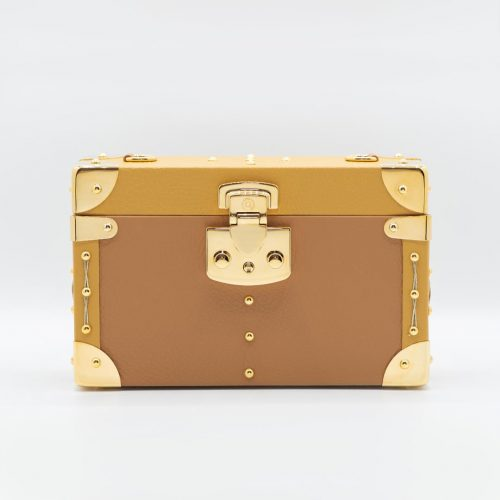 Luis Negri Natural Seduction Box Bag Genuine Camel and Mustard Calf Leather