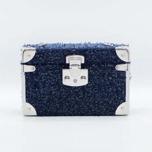 Luis Negri Premiere Night Box Bag Night Blue Tweed