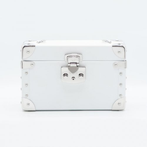 Luis Negri Viva la Vita Box Bag Genuine White Calf Leather