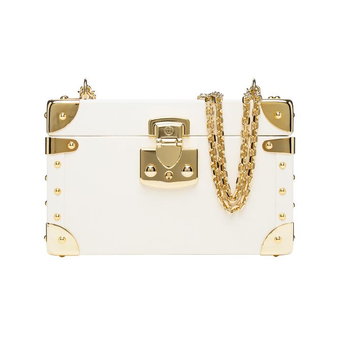 Luis Negri box bag Classic white gold