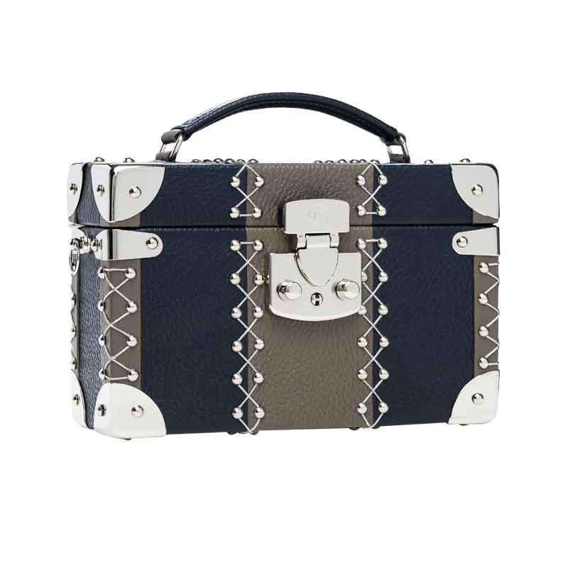 luis negri capriccio the rollings box bag lateral grey silver web
