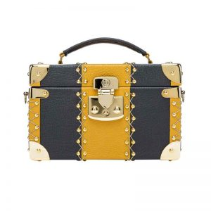 luis negri capriccio the wild days box bag gold mustard frontal web