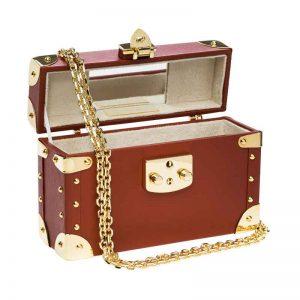 luis negri classic bauletto box bag terracota interior web gold