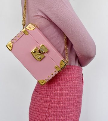 Luis negri bauletto pink box bag newsletter descuento