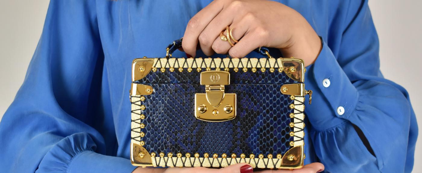 luis negri box bag bauletto blue